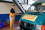 "Ronan King (Clogherhead Lifeboat)  during the ""Car Wash"" for the Clogherhead RNLI at the RNLI Station on Saturday 24th August 2013 <br /> Picture:  Thos Caffrey/ www.newsfile.ie"