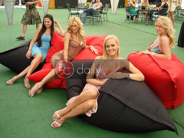 Pilar Lastra and Brande Roderick with Katie Lohmann and Heather Kozer<br />