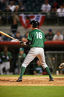 Daytona Tortugas designated hitter Blake Butler (16) at bat during a game against the Florida Fire Frogs on April 6, 2017 at Osceola County Stadium in Kissimmee, Florida.  Daytona defeated Florida 3-1.  (Mike Janes/Four Seam Images)