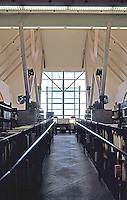 Rob W. Quigley: Linda Vista Library Interior. Looking north up wheel chair ramp towards large window and sunshade. Photo '97.
