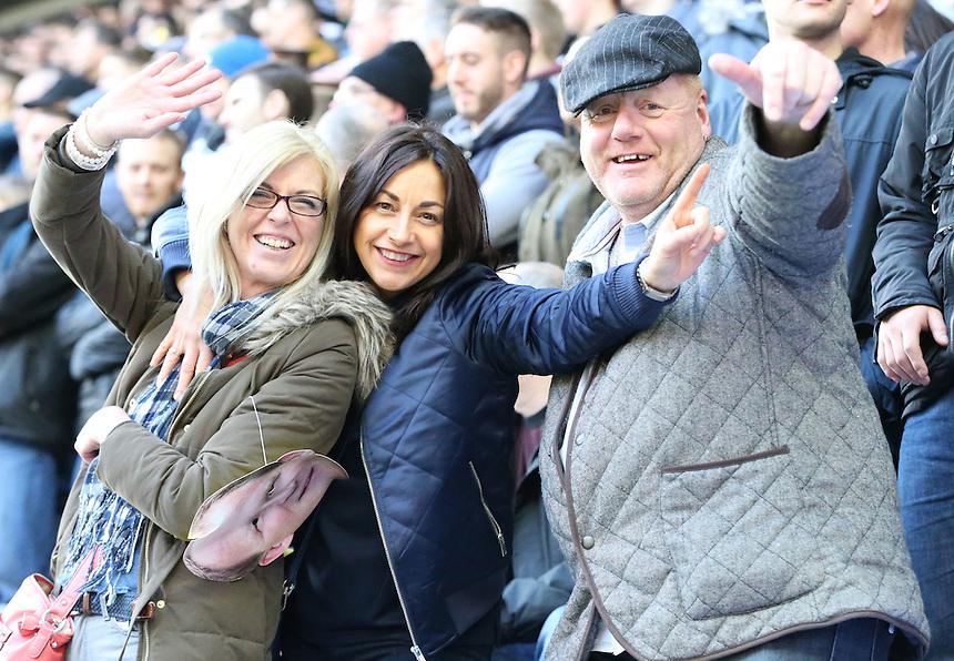Preston North End fans in the stadium <br /> <br /> Photographer Rachel Holborn/CameraSport<br /> <br /> The EFL Sky Bet Championship - Wigan Athletic v Preston North End - Saturday 18th February 2017 - DW Stadium - Wigan<br /> <br /> World Copyright &copy; 2017 CameraSport. All rights reserved. 43 Linden Ave. Countesthorpe. Leicester. England. LE8 5PG - Tel: +44 (0) 116 277 4147 - admin@camerasport.com - www.camerasport.com
