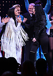 Teal Wicks, Michael Berresse, Bob Mackie and Cher during the Broadway Opening Night Curtain Call of 'The Cher Show'  at Neil Simon Theatre on December 3, 2018 in New York City.