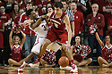 March 9, 2014: Benny Parker (3) of the Nebraska Cornhuskers working over Duje Dukan (13) of the Wisconsin Badgers trying to get the ball from him during the second half at the Pinnacle Bank Arena, Lincoln, NE. Nebraska 77 Wisconsin 68.