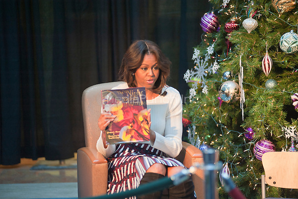WASHINGTON, DC - DECEMBER 15:  First Lady Michelle Obama attends the annual Christmas party at the National Children's Hospital in Washington, DC.  Photo Credit:  Patsy Lynch / MediaPunch