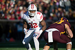 Wisconsin Badgers linebacker Leon Jacobs (32) during an NCAA College Big Ten Conference football game against the Minnesota Golden Gophers Saturday, November 25, 2017, in Minneapolis, Minnesota. (Photo by David Stluka)