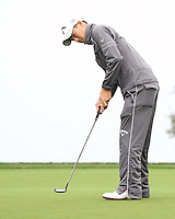25 JAN 13 Japan's Ryo Ishikawa in the steady rain during Friday's Second Round action  at The Farmers Insurance Open at Torrey Pines Golf Course in La Jolla, California. (photo:  kenneth e.dennis / kendennisphoto.com)