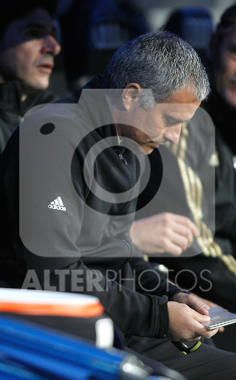 Real Madrid's coach Jose Mourinho during La Liga Match. March 18, 2012. (ALTERPHOTOS/Alvaro Hernandez)