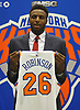 Mitchell Robinson, selected by the New York Knicks in the second round (36th overall) of the 2018 NBA Draft, poses for portraits during his introductory news conference at Madison Square Garden Training Center in Greenburgh, NY on Friday, June 22, 2018.
