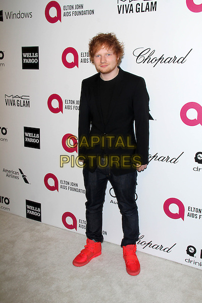 WEST HOLLYWOOD, CA - March 02: Ed Sheeran at the 22nd Annual Elton John AIDS Foundation Oscar Viewing Party Arrivals, Private Location, West Hollywood,  March 02, 2014. <br /> CAP/MPI/JO<br /> &copy;JO/MPI/Capital Pictures