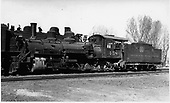 D&amp;RGW #458 with C-48 #1139 behind it.<br /> D&amp;RGW  Montrose, CO  Taken by Brown, Lawrie - 4/13/1937