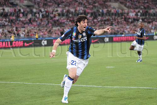 29.05.2011. Final Coppa Italia (Tim Cup) Stadio Olimpico, Rome, Italy.Diego Milito of Inter Milan  celebrates his goal during the Final Tim Cup match Inter Milan versus Palermo at the Olimpic Stadium on Italy.