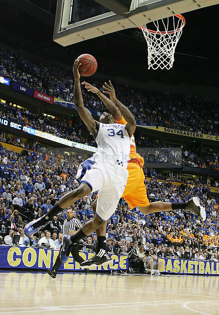 Sophomore guard DeAndre Liggins takes a shot in the second half of UK's 74-45 win overTennessee at Bridgestone Arena in Nashville, TN during the SEC Semifinals on Saturday, March 13, 2010. Photo by Britney McIntosh | Staff