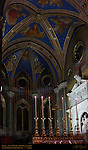 Neo-Gothic High Altar 13th c Gothic Mullioned Windows in Apse Gothic Vault Frescoes Tomb of Clement VII Nanni di Baccio Bigio Santa Maria sopra Minerva Campus Martius Rome