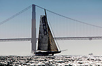 L'Hydroptère DCNS, Alain Thébault and his crew sailing in San Francisco, California, USA.