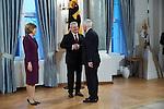 9.1.2015, Berlin. Neujahrsempfang von Bundespräsident Joachim Gauck im Schloss Bellevue. Begrüßung von Zentralratspräsident Dr. Josef Schuster.