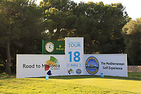 The 18th tee during the Pro-Am of the Challenge Tour Grand Final 2019 at Club de Golf Alcanada, Port d'Alcúdia, Mallorca, Spain on Wednesday 6th November 2019.<br /> Picture:  Thos Caffrey / Golffile<br /> <br /> All photo usage must carry mandatory copyright credit (© Golffile | Thos Caffrey)