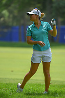 Danielle Kang (USA) reacts to approach shot into the trap on 9 during round 3 of the 2018 KPMG Women's PGA Championship, Kemper Lakes Golf Club, at Kildeer, Illinois, USA. 6/30/2018.<br /> Picture: Golffile | Ken Murray<br /> <br /> All photo usage must carry mandatory copyright credit (&copy; Golffile | Ken Murray)