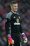 Jordan Pickford of Sunderland during the Premier League match at the Anfield Stadium, Liverpool. Picture date: November 26th, 2016. Pic Simon Bellis/Sportimage