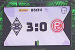 04.11.2018, Borussia Park , Moenchengladbach, GER, 1. FBL,  Borussia Moenchengladbach vs. Fortuna Duesseldorf,<br />  <br /> DFL regulations prohibit any use of photographs as image sequences and/or quasi-video<br /> <br /> im Bild / picture shows: <br /> endstand 3:0<br /> <br /> Foto &copy; nordphoto / Meuter