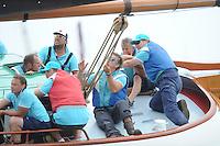 ZEILEN: FRYSLÂN: 2014, SKS skûtsjesilen, skûtsje Eildert Sietez, Akkrum, schipper Pieter Meeter, ©foto Martin de Jong