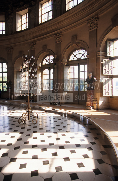 Europe/France/Ile-de-France/77/Seine-et-Marne/Maincy : Le château de Vaux-le-Vicomte - Détail grand salon