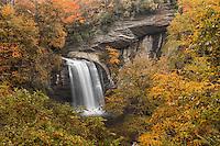 Looking Glass Falls in autumn, Pisgah National Forest near Brevard, North Carolina