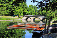 Cambridge, a city famed for its punting - cannot offer the perennial favourite for tourists under current government guidelines. Scudamores, the city's largest Punt Hire company has mothballed  it's 'fleet' with only a few on the River Cam Punt Stations. Cambridge, UK on May 30th 2020<br /> <br /> Photo by Keith Mayhew