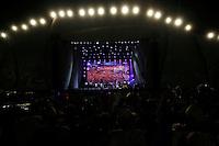 RIO DE JANEIRO, RJ, 31 DEZEMBRO 2011 - REVEILLON PRAIA DE COPACABANA - Publico acompanha apresentacao da banda O Rappa, durante show da Virada na praia de Copacabana no Rio de Janeiro, na noite deste sabado, 31. (FOTO: WILLIAM VOLCOV - NEWS FREE).