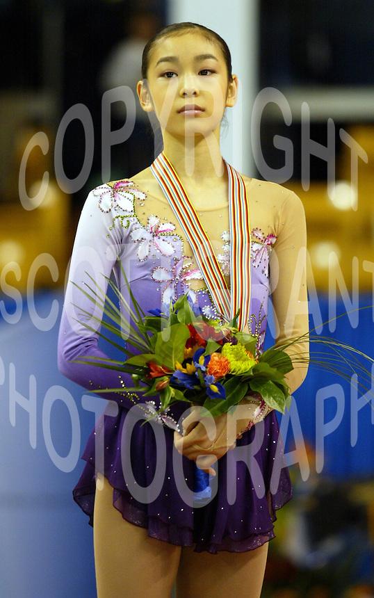 Kim Yu-na. Korea, Ladies Silver medalist 2005 World Jr Figure Skating Championships. Photo Scott Grant