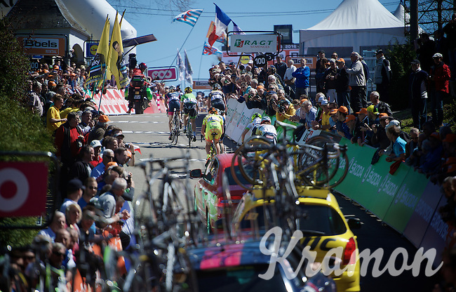 Up the infamous Mur de Huy (1300m/9.8%)<br /> <br /> Women's Flèche Wallonne 2016