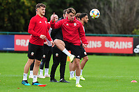 Regan Poole of Wales during the Wales Training Session at The Vale Resort in Cardiff, Wales, UK. Saturday 12 October 2019