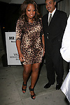 ..May 1st 2012...Star Jones dine at Mr.Chow in Beverly Hills wearing leopard cheetah print dress..AbilityFilms@YAHOO.COM.805 427 3519.www.AbilityFilms.com.