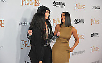 www.acepixs.com<br /> <br /> April 12 2017, LA<br /> <br /> (L-R) Singer Cher and Kim Kardashian West arriving at the premiere of 'The Promise' on April 12, 2017 in Hollywood, California<br /> <br /> By Line: Peter West/ACE Pictures<br /> <br /> <br /> ACE Pictures Inc<br /> Tel: 6467670430<br /> Email: info@acepixs.com<br /> www.acepixs.com