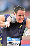 Dylan Armstrong of Canada competes in men's shot put during the IAAF Diamond League in Rome's Olympic Stadium on June 10, 2010.