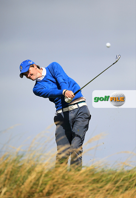 Eugene Smith (Ardee) on the 16th tee during the South of Ireland Amateur Open Championship 5th Round at Lahinch Golf Club  30th July 2013 <br /> Picture:  Thos Caffrey / www.golffile.ie