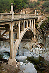 Old bridge over the East Fork of the Kaweah River, Tulare County, California
