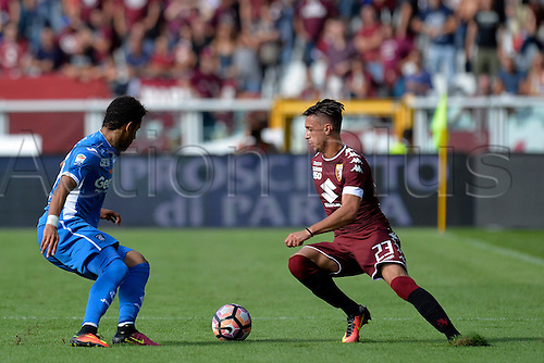 19.09.2016. Stadio Olimpico, Torino, Italy. Serie A Football. Torino versus Empoli. Antonio Barreca on the ball . The game ended in a 0-0 draw.