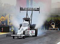 May 19, 2017; Topeka, KS, USA; NHRA top fuel driver Antron Brown during qualifying for the Heartland Nationals at Heartland Park Topeka. Mandatory Credit: Mark J. Rebilas-USA TODAY Sports