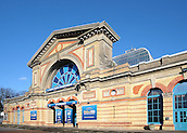 29.12.2015. Alexandra Palace, London, England. William Hill PDC World Darts Championship. A general view of the  Alexandra Palace entrance set up for the world darts event