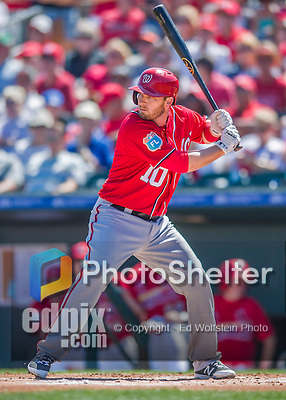 6 March 2016: Washington Nationals infielder Stephen Drew in action during a Spring Training pre-season game against the St. Louis Cardinals at Roger Dean Stadium in Jupiter, Florida. The Nationals defeated the Cardinals 5-2 in Grapefruit League play. Mandatory Credit: Ed Wolfstein Photo *** RAW (NEF) Image File Available ***