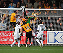Glyn Thompson of Newport punches clear under pressure during the Blue Square Bet Premier match between Cambridge United and Newport County at the Abbey Stadium, Cambridge  on 25th September, 2010.© Kevin Coleman