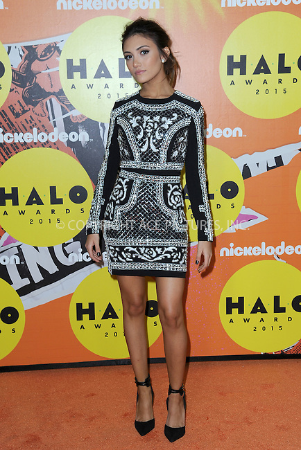 WWW.ACEPIXS.COM<br /> November 14, 2015 New York City<br /> <br /> Daniela Nieves attending the 2015 Nickelodeon HALO Awards at Pier 36 on November 14, 2015 in New York City.<br /> <br /> Credit: Kristin Callahan/ACE<br /> Tel: (646) 769 0430<br /> e-mail: info@acepixs.com<br /> web: http://www.acepixs.com