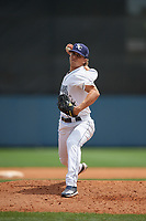 Charlotte Stone Crabs relief pitcher Chandler Raiden (25) during a Florida State League game against the Palm Beach Cardinals on April 14, 2019 at Charlotte Sports Park in Port Charlotte, Florida.  Palm Beach defeated Charlotte 5-3.  (Mike Janes/Four Seam Images)