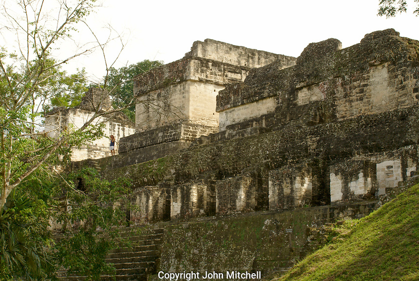 North Acropolis at the Maya ruins of Tikal, El Peten, Guatemala. Tikal is a UNESCO World Heritage Site...