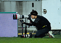 Photographer Anthony Au-Yeung shoots the Rugby Championship rugby union match between the New Zealand All Blacks and South Africa Springboks at Westpac Stadium in Wellington, New Zealand on Saturday, 27 July 2019. Photo: Dave Lintott / lintottphoto.co.nz