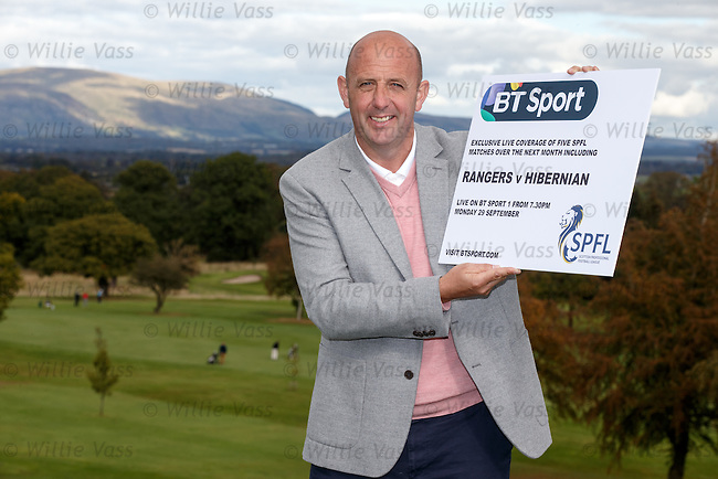 Gary McAllister at Glenbervie Golf Club as he looks ahead to next week's Rangers v Hibs clash at Ibrox