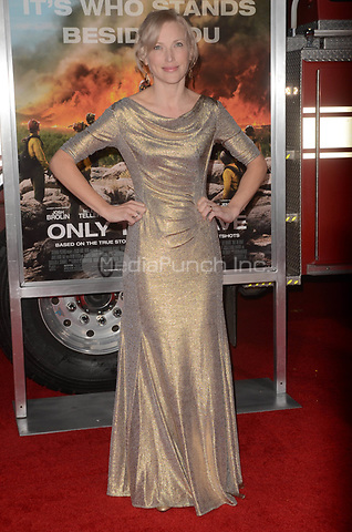 WESTWARD, CA - OCTOBER 8: Jenny Gabrielle at the Only The Brave World Premiere at the Village Theater in Westwood, California on October 8, 2017. Credit: David Edwards/MediaPunch