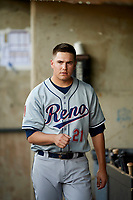 Frank Duncan (21) of the Reno Aces during the game against the Salt Lake Bees in Pacific Coast League action at Smith's Ballpark on June 15, 2017 in Salt Lake City, Utah. The Aces defeated the Bees 13-5. (Stephen Smith/Four Seam Images)