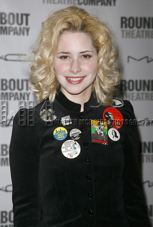 Nellie McKay attending the Opening Night after party for the Roundabout Theatre Company's Broadway production of THE THREEPENNY OPERA at Studio 54 in New York City.. April 20, 2006. © Walter McBride/WM Photography
