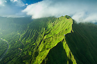 Windward O'ahu, including the steep hiking trail called Stairway to Heaven (or Ha'iku Stairs or Ha'iku Ladder).